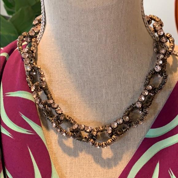 J. Crew Jewelry - J Crew pink crystal necklace